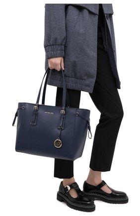 Женский сумка-тоут voyager medium MICHAEL MICHAEL KORS темно-синего цвета, арт. 30H7GV6T8L | Фото 2