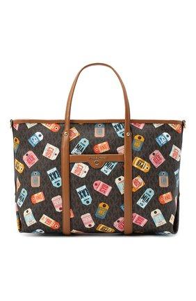 Женский сумка-шопер beck MICHAEL MICHAEL KORS коричневого цвета, арт. 30T0GKNT10 | Фото 1