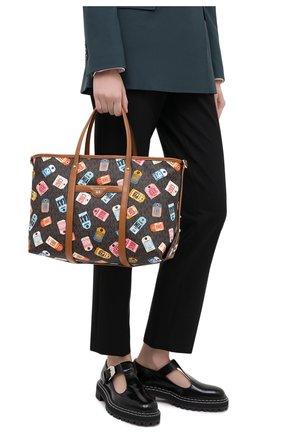 Женский сумка-шопер beck MICHAEL MICHAEL KORS коричневого цвета, арт. 30T0GKNT10 | Фото 2
