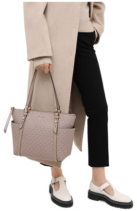 Женский сумка-шопер nomad MICHAEL MICHAEL KORS бежевого цвета, арт. 30T0GNXT2B | Фото 2