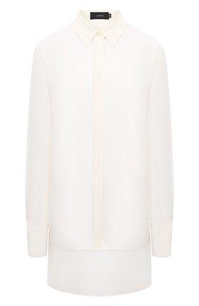 Женская шелковая рубашка JOSEPH белого цвета, арт. JF004974   Фото 1