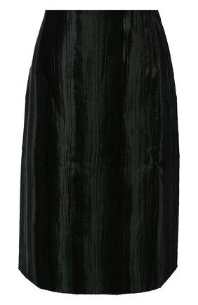 Женская юбка из вискозы и хлопка DRIES VAN NOTEN зеленого цвета, арт. 202-10803-1250 | Фото 1