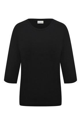 Женская хлопковая футболка DRIES VAN NOTEN черного цвета, арт. 202-11123-1616 | Фото 1