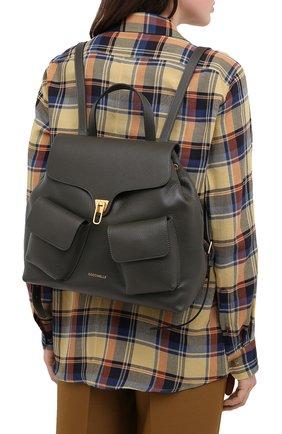 Женский рюкзак beat soft medium COCCINELLE зеленого цвета, арт. E1 GF6 14 01 01 | Фото 2