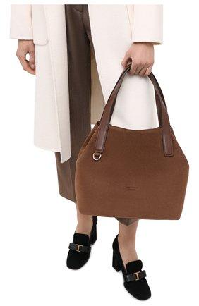 Женская сумка mila suede COCCINELLE коричневого цвета, арт. E1 GE6 11 02 01 | Фото 2