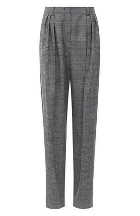 Женские шерстяные брюки EMPORIO ARMANI серого цвета, арт. 9NP14T/92108   Фото 1