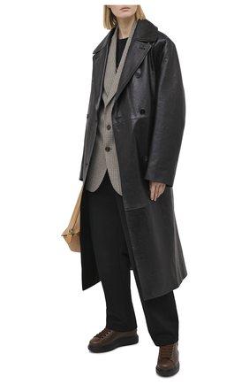 Женские кожаные кеды ALEXANDER MCQUEEN коричневого цвета, арт. 609650/WHXE2 | Фото 2