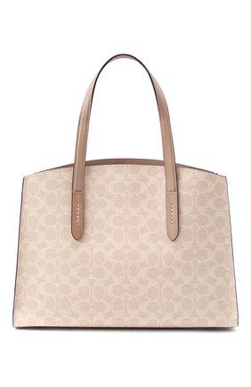 Женская сумка charlie COACH бежевого цвета, арт. 31210   Фото 1