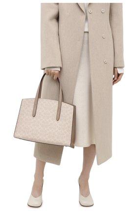 Женская сумка charlie COACH бежевого цвета, арт. 31210   Фото 2