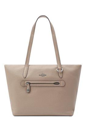 Женский сумка-шопер taylor COACH бежевого цвета, арт. 38312 | Фото 1