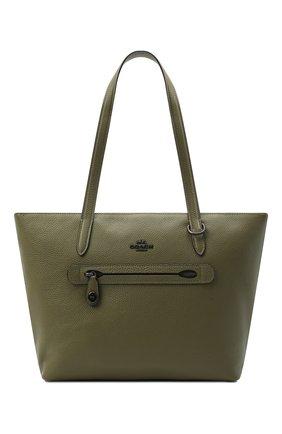 Женский сумка-шопер taylor COACH хаки цвета, арт. 38312 | Фото 1