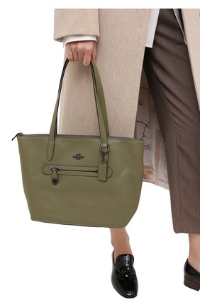Женский сумка-шопер taylor COACH хаки цвета, арт. 38312 | Фото 2