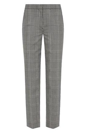 Женские шерстяные брюки BURBERRY серого цвета, арт. 8031152 | Фото 1