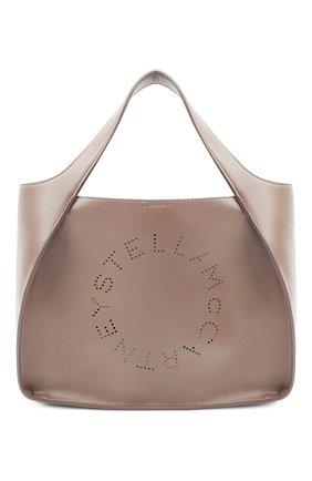 Женский сумка stella logo STELLA MCCARTNEY бежевого цвета, арт. 513860/W8542 | Фото 1 (Материал: Экокожа, Текстиль; Сумки-технические: Сумки-шопперы; Размер: medium)