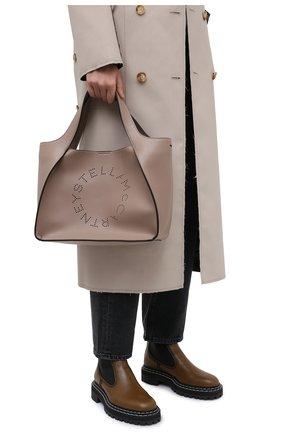 Женский сумка stella logo STELLA MCCARTNEY бежевого цвета, арт. 513860/W8542 | Фото 2 (Материал: Экокожа, Текстиль; Сумки-технические: Сумки-шопперы; Размер: medium)