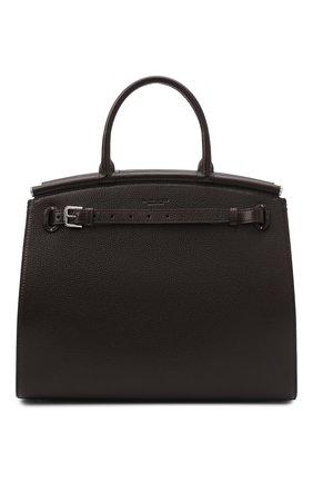 Женская сумка rl50 large RALPH LAUREN темно-коричневого цвета, арт. 435825163 | Фото 1