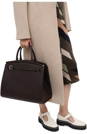 Женская сумка rl50 large RALPH LAUREN темно-коричневого цвета, арт. 435825163 | Фото 2
