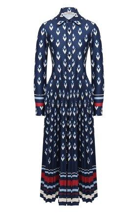 Женское платье VALENTINO синего цвета, арт. UB3MJ02E5NA   Фото 1