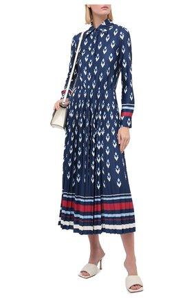Женское платье VALENTINO синего цвета, арт. UB3MJ02E5NA   Фото 2