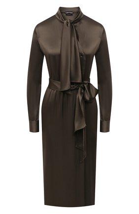 Женское платье TOM FORD хаки цвета, арт. AB2868-FAX727 | Фото 1