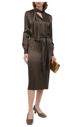 Женское платье TOM FORD хаки цвета, арт. AB2868-FAX727 | Фото 2