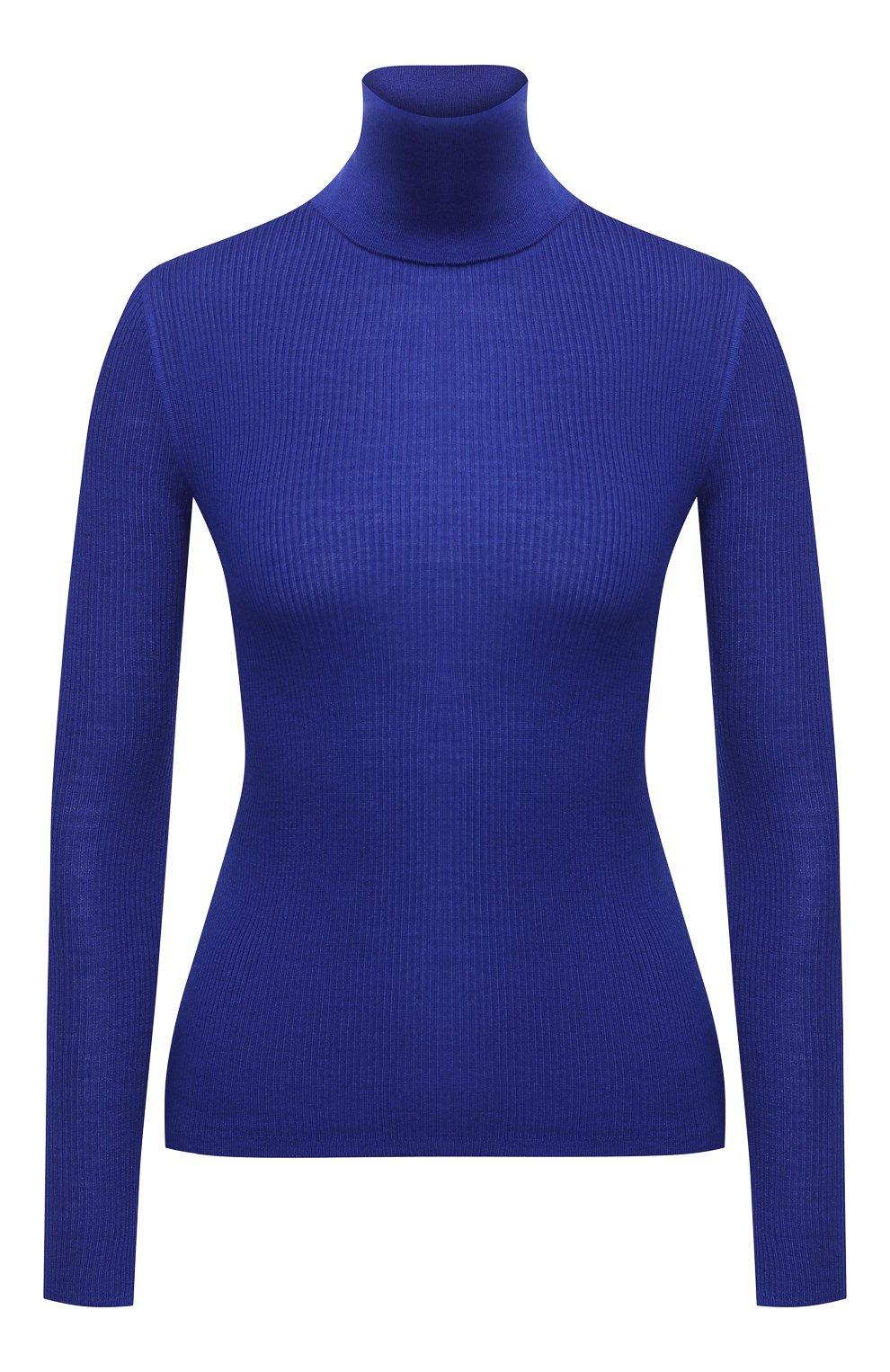 Женская водолазка из кашемира и шерсти SAINT LAURENT синего цвета, арт. 637869/YAPK2 | Фото 1 (Женское Кросс-КТ: Водолазка-одежда; Материал внешний: Шерсть, Шелк, Кашемир; Рукава: Длинные; Длина (для топов): Стандартные; Стили: Кэжуэл)