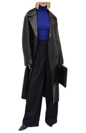 Женская водолазка из кашемира и шерсти SAINT LAURENT синего цвета, арт. 637869/YAPK2 | Фото 2 (Женское Кросс-КТ: Водолазка-одежда; Материал внешний: Шерсть, Шелк, Кашемир; Рукава: Длинные; Длина (для топов): Стандартные; Стили: Кэжуэл)