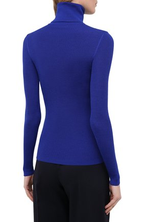 Женская водолазка из кашемира и шерсти SAINT LAURENT синего цвета, арт. 637869/YAPK2 | Фото 4 (Женское Кросс-КТ: Водолазка-одежда; Материал внешний: Шерсть, Шелк, Кашемир; Рукава: Длинные; Длина (для топов): Стандартные; Стили: Кэжуэл)