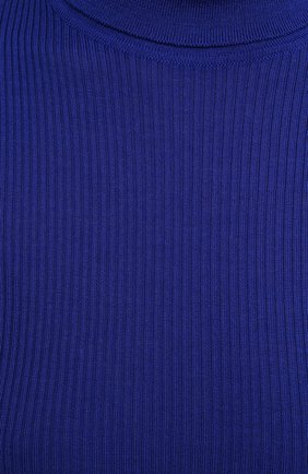 Женская водолазка из кашемира и шерсти SAINT LAURENT синего цвета, арт. 637869/YAPK2 | Фото 5 (Женское Кросс-КТ: Водолазка-одежда; Материал внешний: Шерсть, Шелк, Кашемир; Рукава: Длинные; Длина (для топов): Стандартные; Стили: Кэжуэл)