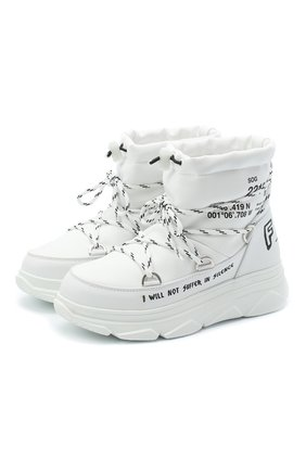 Женские ботинки F_WD белого цвета, арт. FW33082C/12101 | Фото 1