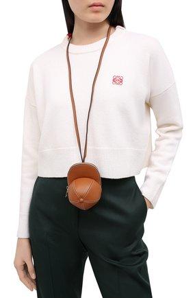 Женская сумка nano cap JW ANDERSON коричневого цвета, арт. HB0232 LA0001 | Фото 2
