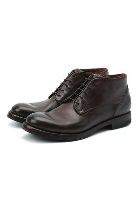 Мужские кожаные ботинки W.GIBBS темно-коричневого цвета, арт. 0220008/2260 | Фото 1