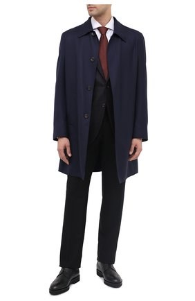 Мужской кожаные дерби BOSS черного цвета, арт. 50436985 | Фото 2
