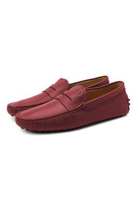 Мужские кожаные мокасины TOD'S красного цвета, арт. XXM64C00640VYP | Фото 1