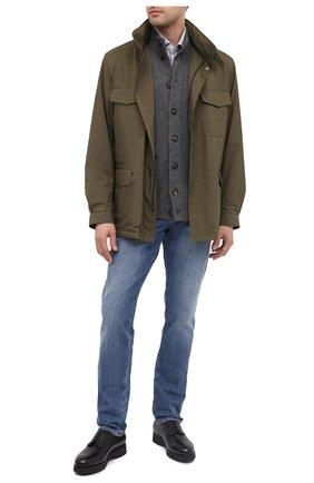 Мужской кожаные дерби DOUCAL'S черного цвета, арт. DU1330DAK0UM019NN00 | Фото 2