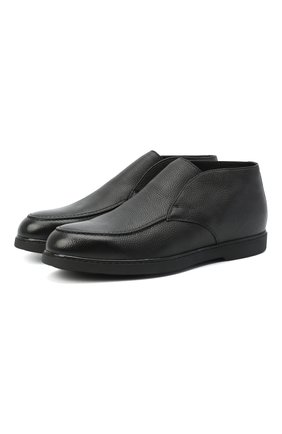 Мужские кожаные ботинки DOUCAL'S черного цвета, арт. DU2654ED0-UM019NN00 | Фото 1