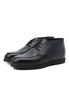 Мужские кожаные ботинки DOUCAL'S темно-синего цвета, арт. DU2713ED0-UM019NB04 | Фото 1