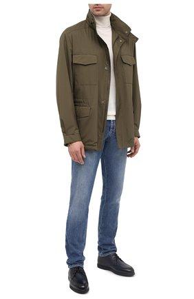 Мужские кожаные ботинки DOUCAL'S темно-синего цвета, арт. DU2713ED0-UM019NB04 | Фото 2
