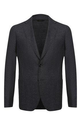 Мужской шерстяной пиджак GIORGIO ARMANI темно-серого цвета, арт. 0WGGG0GS/T01VX | Фото 1
