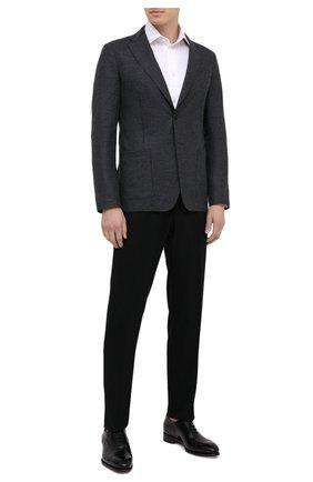 Мужской шерстяной пиджак GIORGIO ARMANI темно-серого цвета, арт. 0WGGG0GS/T01VX | Фото 2