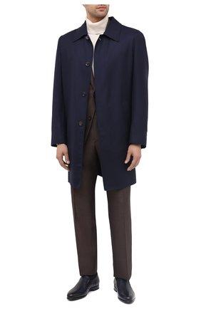 Мужские кожаные лоферы ZILLI темно-синего цвета, арт. MDU-B074/001 | Фото 2
