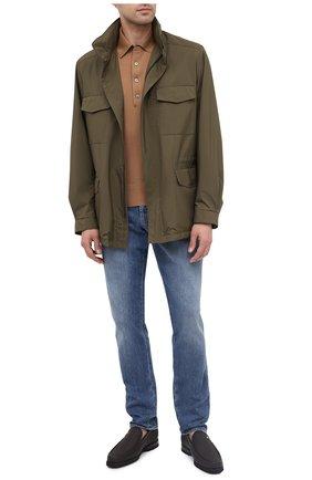 Мужские кожаные лоферы ZILLI коричневого цвета, арт. MDU-M047/001 | Фото 2