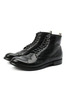 Мужские кожаные ботинки OFFICINE CREATIVE черного цвета, арт. ANAT0MIA/16/BUFAL0 V | Фото 1