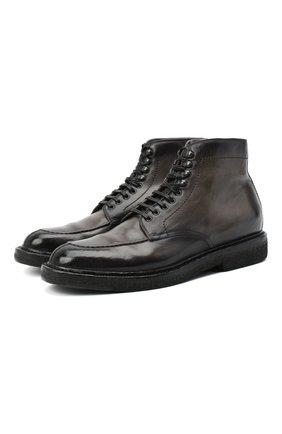 Мужские кожаные ботинки OFFICINE CREATIVE серого цвета, арт. STANF0RD/207/AER0 CANY0N H | Фото 1