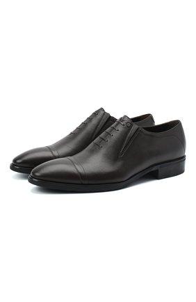 Мужские кожаные лоферы ALDO BRUE темно-коричневого цвета, арт. AB604FPK-NL.P.2D70R   Фото 1