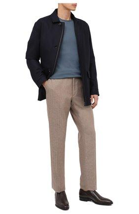 Мужские кожаные лоферы ALDO BRUE темно-коричневого цвета, арт. AB604FPK-NL.P.2D70R   Фото 2