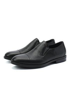 Мужские кожаные лоферы ALDO BRUE черного цвета, арт. AB4037.CM.P.BU | Фото 1