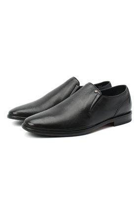 Мужские кожаные лоферы ALDO BRUE черного цвета, арт. AB7114.MP.P.FF90CPB | Фото 1