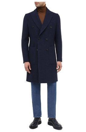 Мужские кожаные оксфорды PREMIATA темно-синего цвета, арт. 31116/REAL | Фото 2