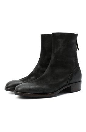 Мужские кожаные сапоги PREMIATA черного цвета, арт. 30149/VINZ | Фото 1